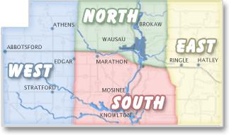 Marathon County 4-H District Map