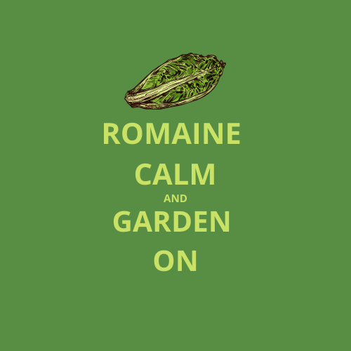 Romaine Calm and Garden On Logo